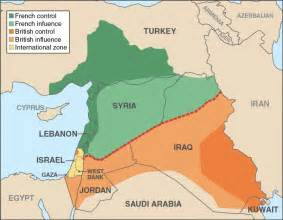 middle east map after the secret sykes picot agreement the great war project