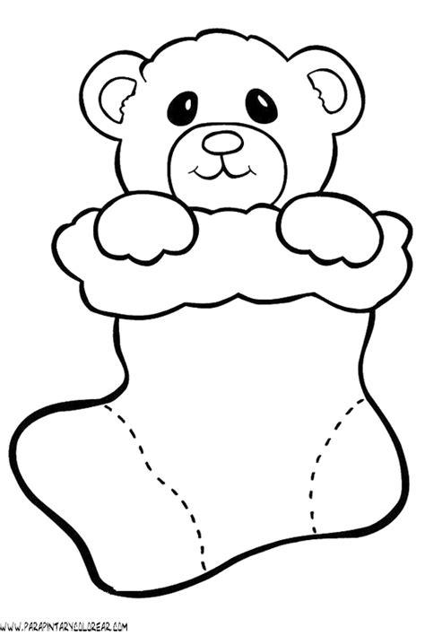 dibujos de navidad para colorear de ositos dibujos calcetines navidad 055
