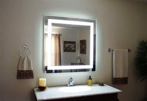 lighted wall mirrors for bathrooms lighted bathroom wall mirror for any bathroom styles