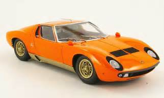 Lamborghini Miura Orange Lamborghini Miura P400 S Orange Kyosho Diecast Model Car 1