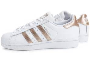 cheap adidas superstar gold white shoes