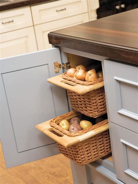 kitchen cabinet baskets photos hgtv