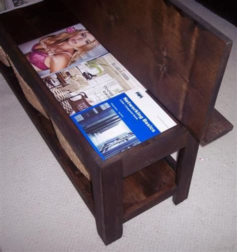 white build a flip top storage bench coffee table