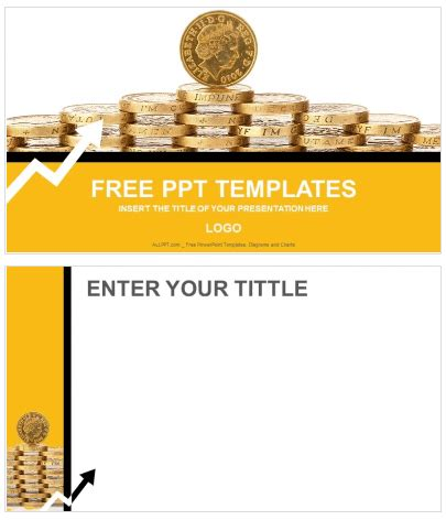free gold coins finance powerpoint templates ppt free