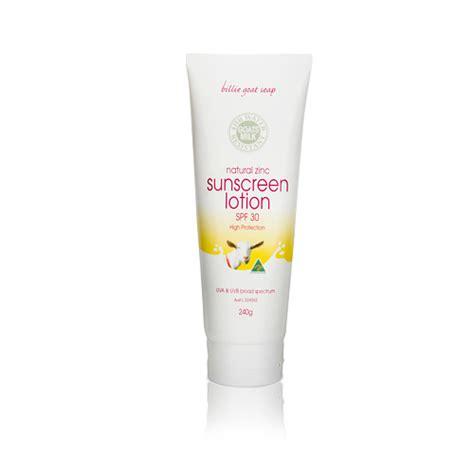 billie goat soap goats milk sunscreen lotion spf30 240g