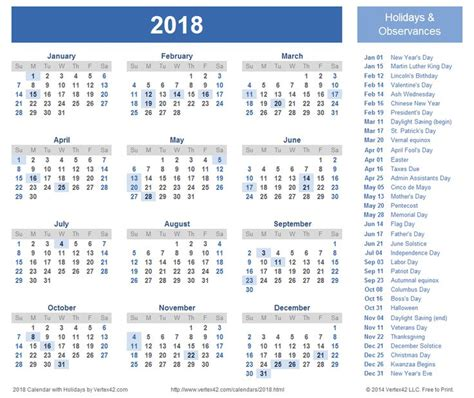 printable calendar 2018 with public holidays 2018 calendar with holidays calendar printable free