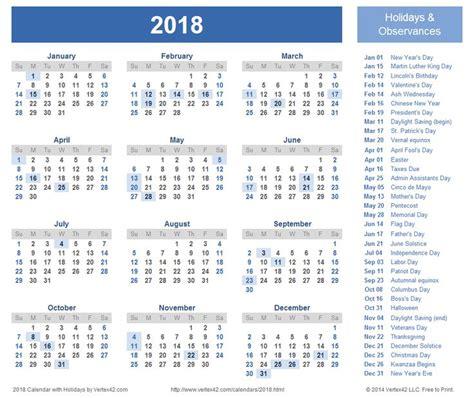 2018 Calendar Canada   2018 calendar with holidays