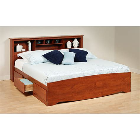 Bed Storage Walmart by Prepac Edenvale King Platform Storage Bed With Headboard