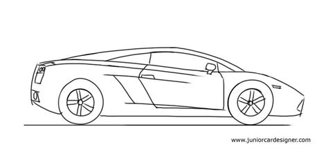 lamborghini sketch how to draw a lamborghini gallardo junior car designer