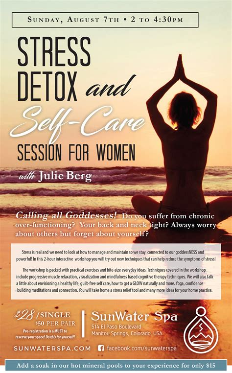 Self Care During A Detox by Stress Detox And Self Care Session For With Julie