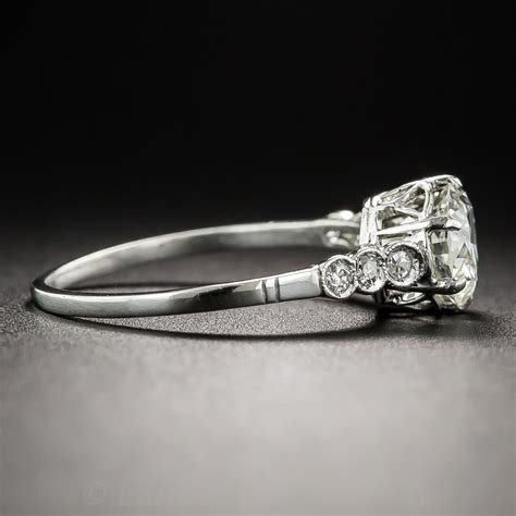 swedish 85 carat platinum vintage engagement ring
