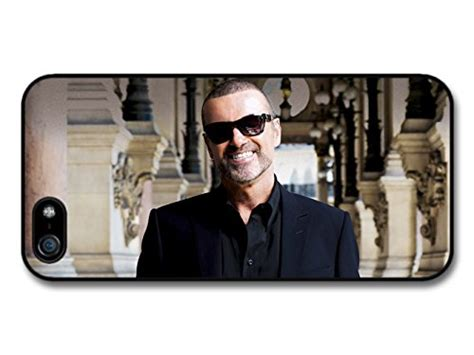 George Michael Iphone 5 george michael smiling portrait with sunglasses and black