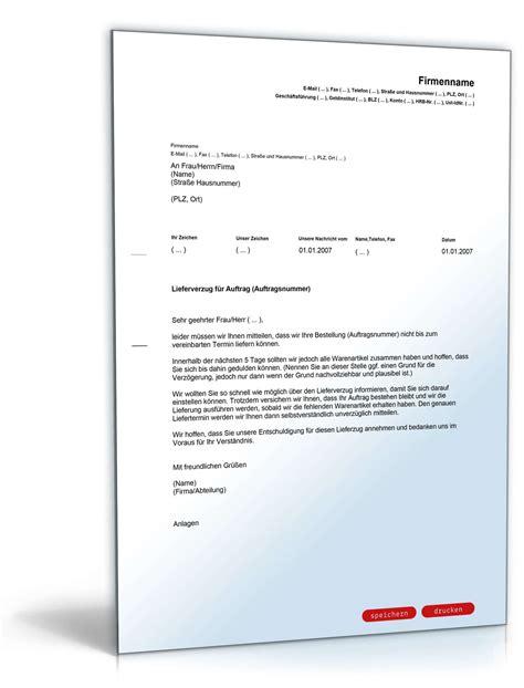 Musterbriefe Lieferverzug Entschuldigung Verz 246 Gerung Liefertermin Muster Zum