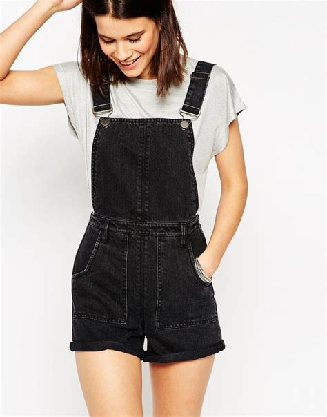 Overall Black black overall shorts wardrobe mag