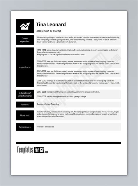 boost career accountant resume template best 20 accountant cv ideas on resume ideas