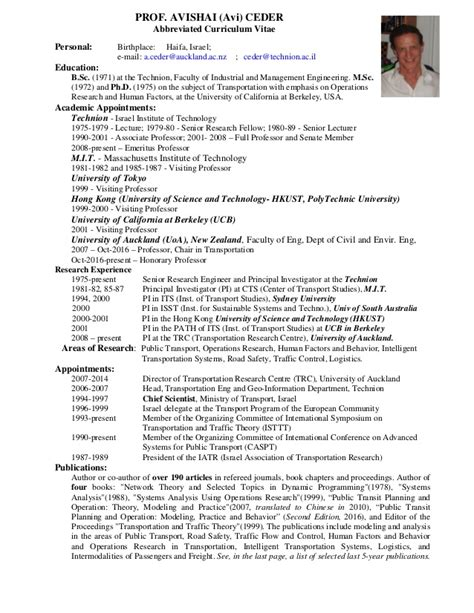 avi ceder 3 page cv and achievements with selected