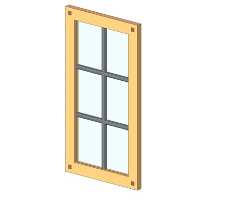 Shaker Cabinet Doors With Glass Generic Specialty Casework Bim Objects Families