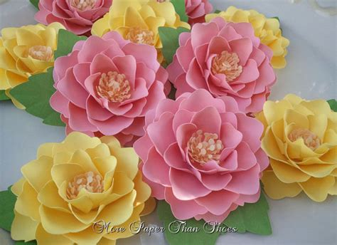 Beautiful Handmade Paper Flowers - paper flowers handmade elizabeth set by