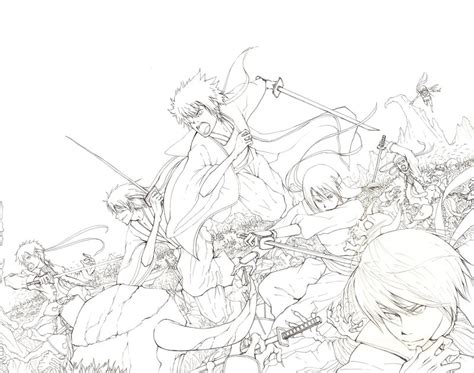 theme line gintama gintama lineart by koulin on deviantart
