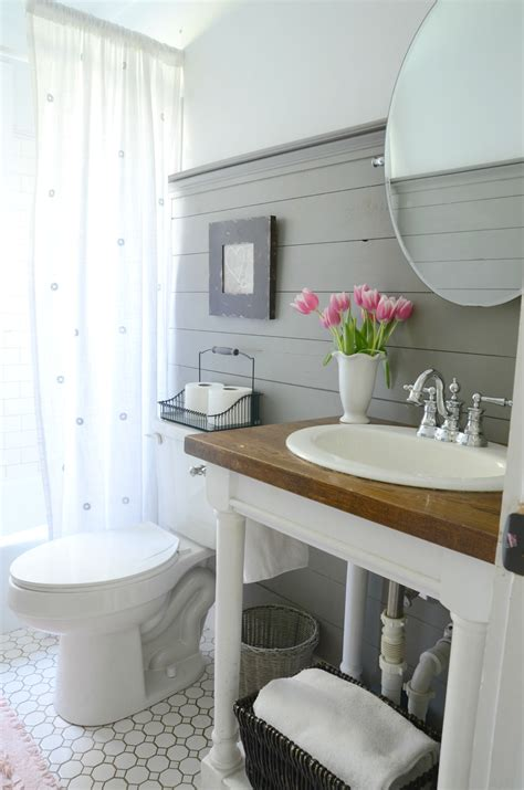 bathroom wall ideas pinterest farmhouse bathroom refresh adoption update beneath my