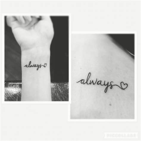 always wrist tattoo mais de 1000 ideias sobre always no