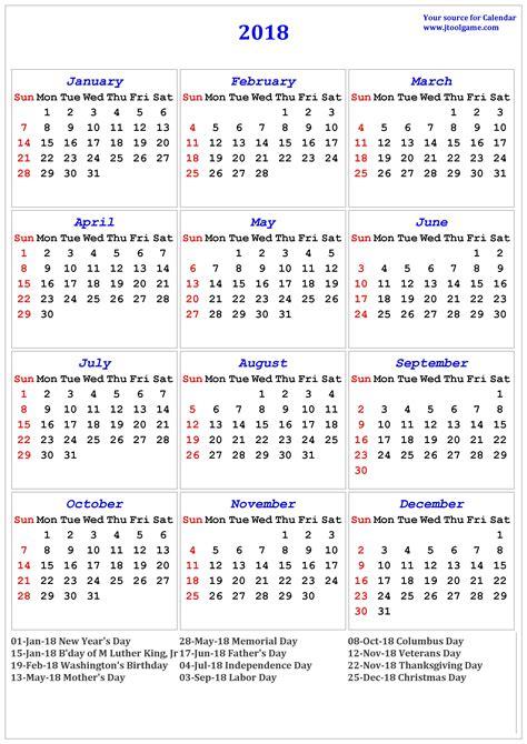 printable calendar 2018 usa 2018 calendar printable calendar 2018 calendar in