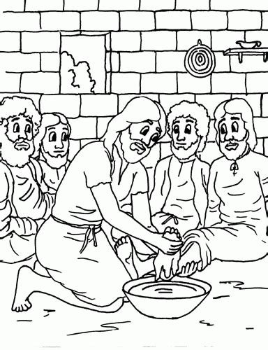 coloring pages of jesus disciples jesus washes the disciples feet coloring page coloring home