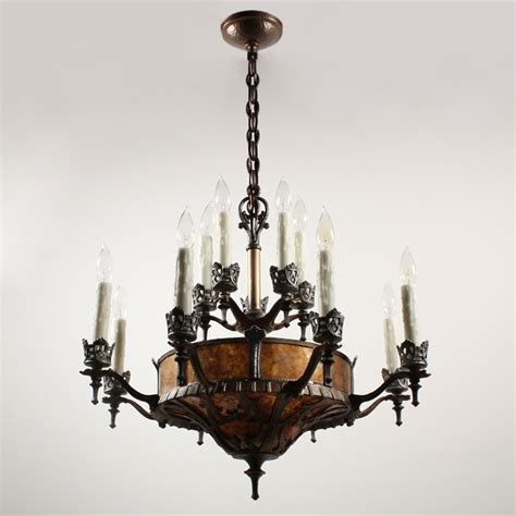 mica chandelier shades mica chandelier forged iron wood chandelier mica shades