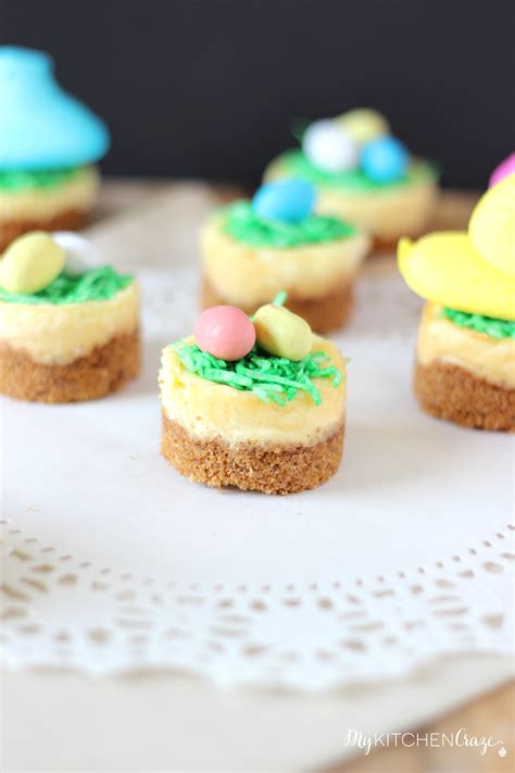 easy easter desserts mini easter cheesecakes my kitchen craze