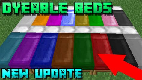 how to make a bed in minecraft pc new dyeable beds in minecraft pc pe new mc 1 12 mcpe
