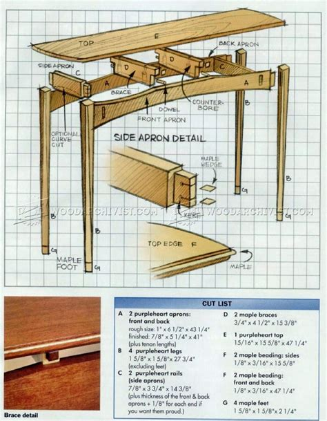 28 Original Woodworking Plans For Console Table Egorlin Com Sofa Table Plans