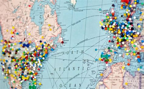 travel map with pins where should you vacation in 2015 language connections