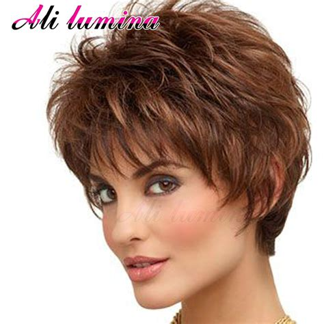 hair style galleries short wigs for black women pixie cut synthetic wigs free shipping short hair wavy