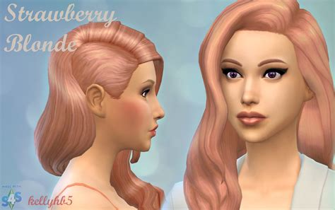 sims 3 custom hair color mod the sims strawberry blonde new non default hair