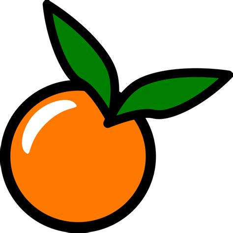 orange clipart orange icon by chovynz an orange icon minimalist