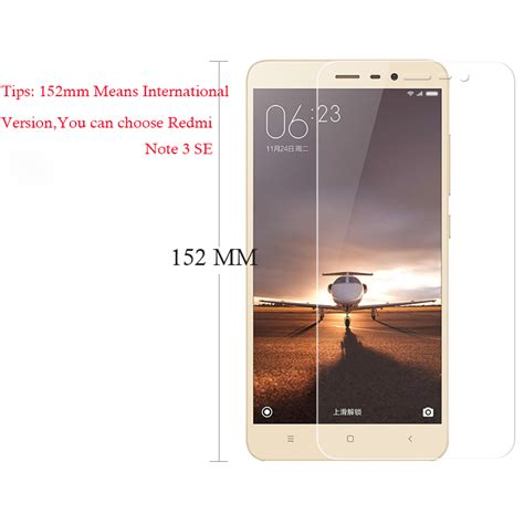 9h 0 26mm tempered glass screen protector for xiaomi redmi note 3 se pro prime international