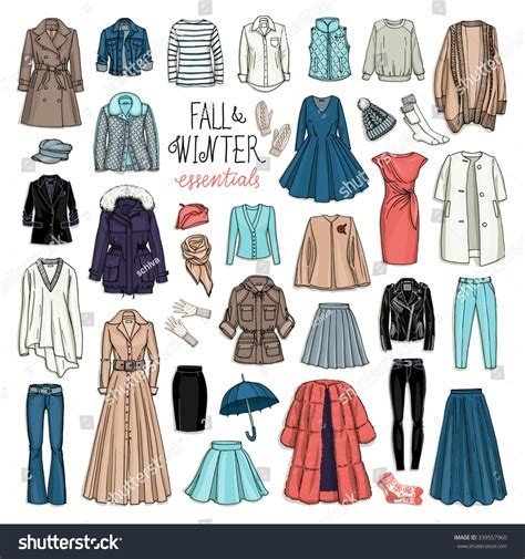 fashion illustration winter wear vector illustration fall winter fashion stock