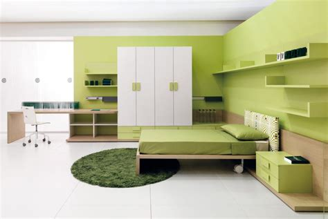 light green bedroom combination of the green color in the interior