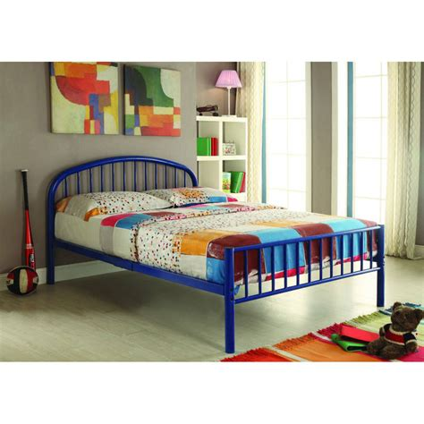 blue twin bed cailyn twin bed with trundle blue walmart com