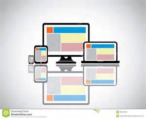 website desktop computer laptop smartphone stock