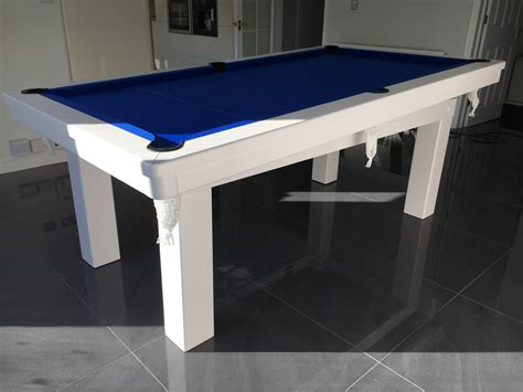7ft pool dining table modern 7ft pool dining table in white blue pool table