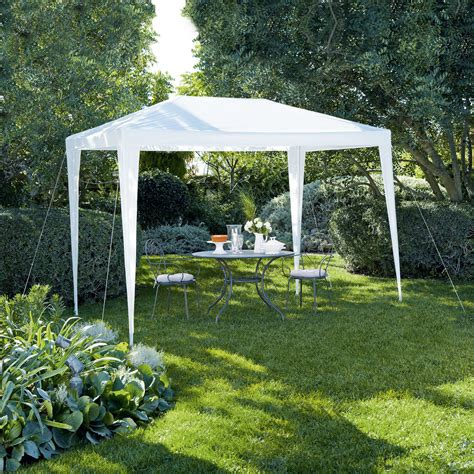 gazebo b q blooma suhali white gazebo departments diy at b q
