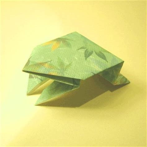 Jumping Frog Money Origami Frogs - origami jumping frog