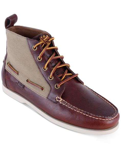 polo ralph s barrott boots in brown for