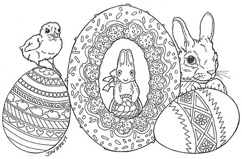 easter bunny coloring pages hard easter egg coloring pages
