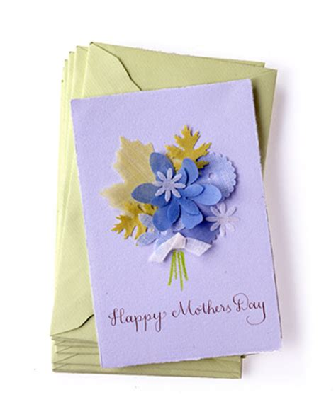 cool mothers day cards to make picture of fabric punched card