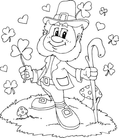 coloring pages pictures to print get this printable leprechaun coloring pages online 2x537