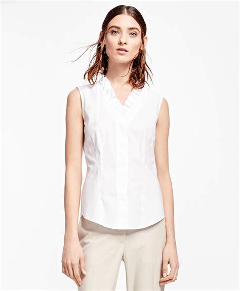 Dress Chiressy Batik white blouse smart casual blouse