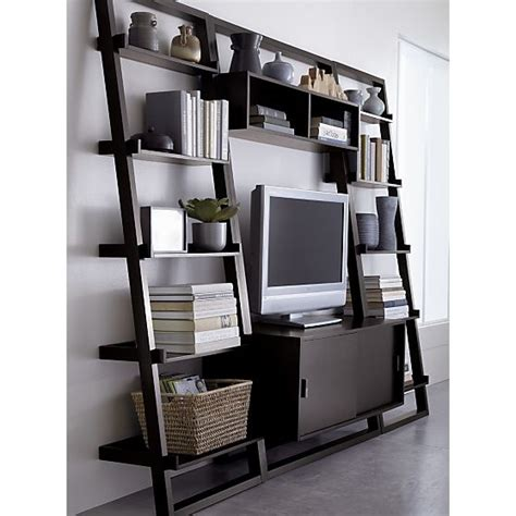 crate and barrel sloane leaning bookcase sloane espresso 25 5 quot leaning bookcase in bookcases