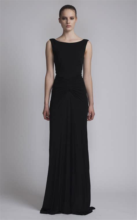 boat dress floor length dress with boat neck by issa moda operandi